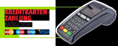 Kreditkartenzahlung möglich